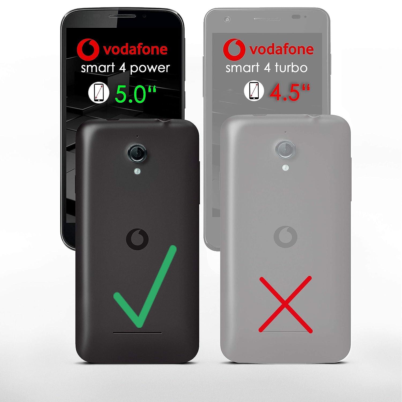 Bolso OneFlow para funda Vodafone Smart 4 Power Cubierta con tarjetero | Estuche Flip Case Funda móvil plegable | Bolso móvil funda protectora accesorios ...