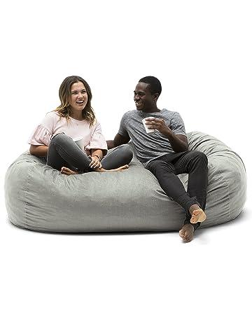 Big Joe 0002658 Foam Filled Bean Bag Chair - Media Lounger Fog Lenox 2c6056eb07829