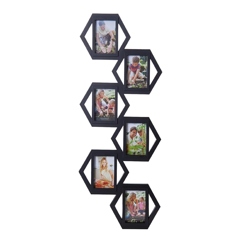 Amazon.com - Melannco 6-Opening Hexagon Collage Frame, Black, 37 ...