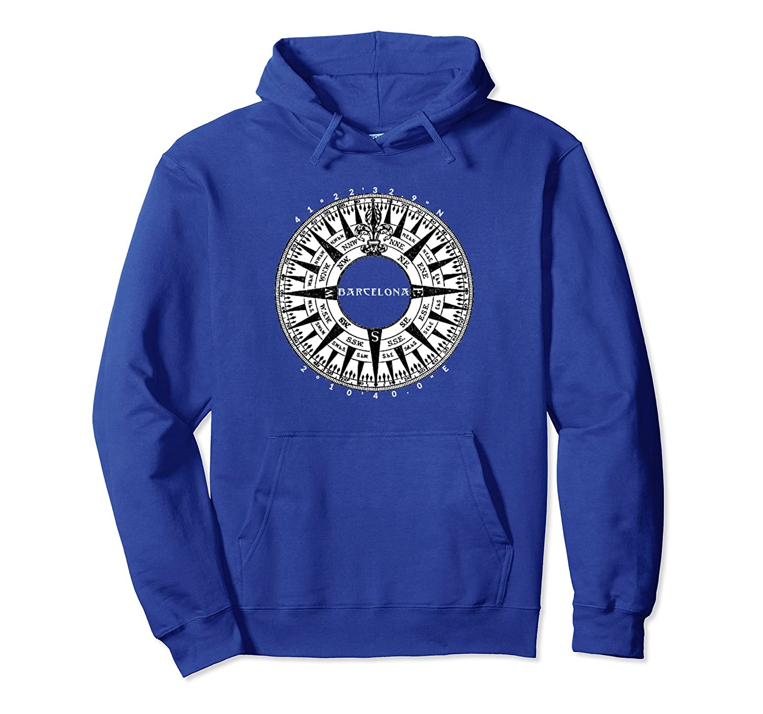 Barcelona Catalonia Spain Vacation Travel Pullover Hoodie-TH