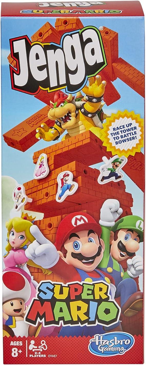 Jenga Super Mario Edition Game, Block Stacking Tower Game para los Fans de Super Mario, Mayores de 8 años: Amazon.es: Juguetes y juegos