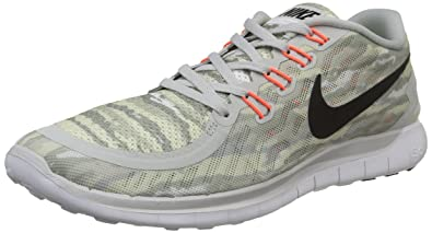 NIKE Mens Free 5.0 Print Running Shoes (Pure Platinum) SZ. 10