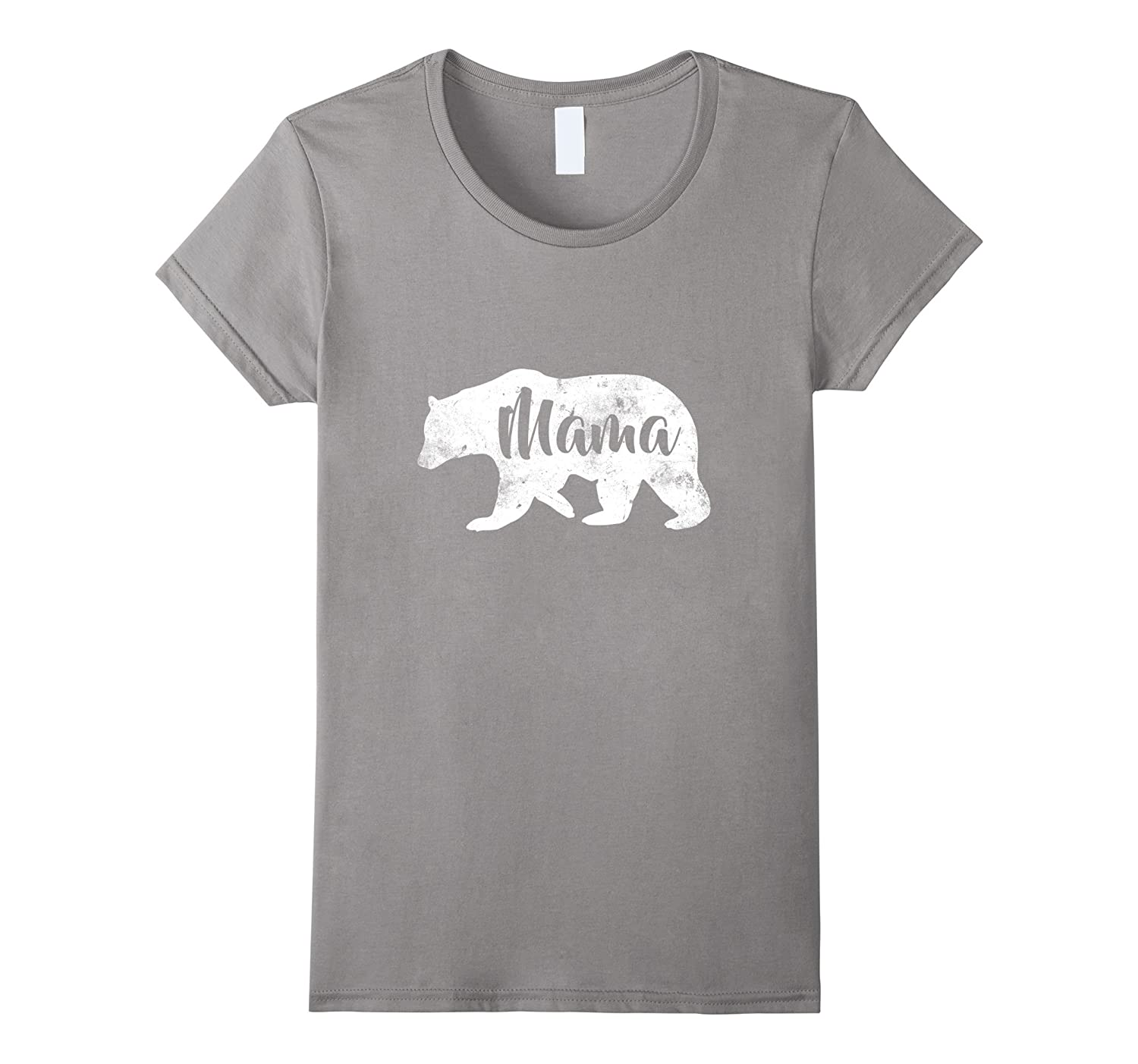 Women's Mama Bear T-Shirt Sweet Outdoors Family Tee for Mothers-FL