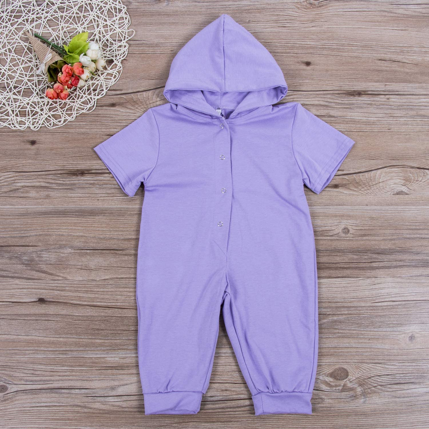 docotor akio Infant Baby Boys Girls Dinosaur Hooded Romper Bodysuit One Piece Outfits