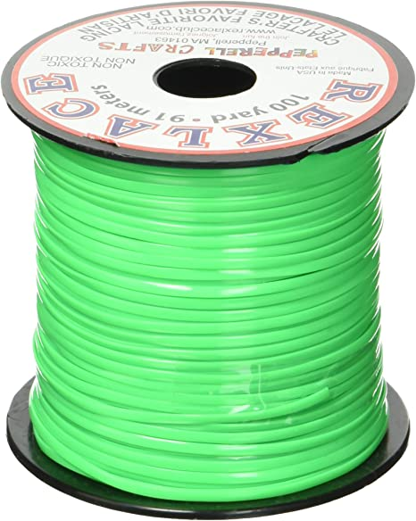 3//32-Inch Craft County Rexlace Plastic Craft Lace Apple Green