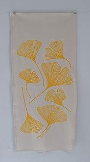 Ginkgo Leaf Flour Sack Tea Towel in Yellow - Tea Towel - Flour Sack Towel - Kitchen Towel - Cotton Dishcloth - Kitchen Decor