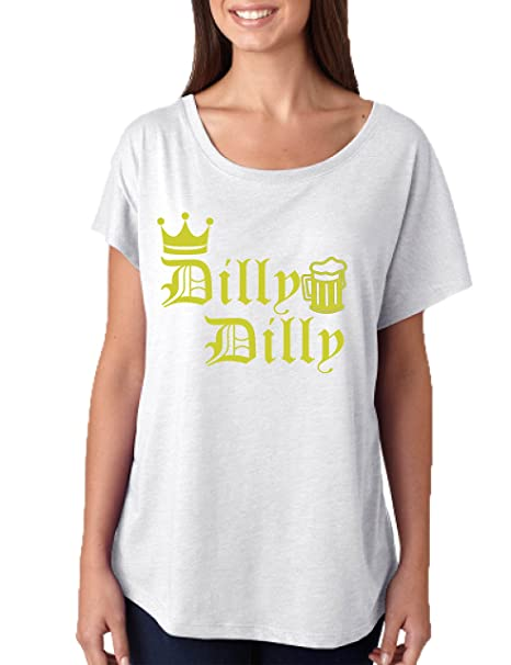 753cc0e7 Allntrends Women's Dolman Dilly Dilly Trending Shirt Cute Drinking Slang  Top (S, Heather White. Roll over image to ...