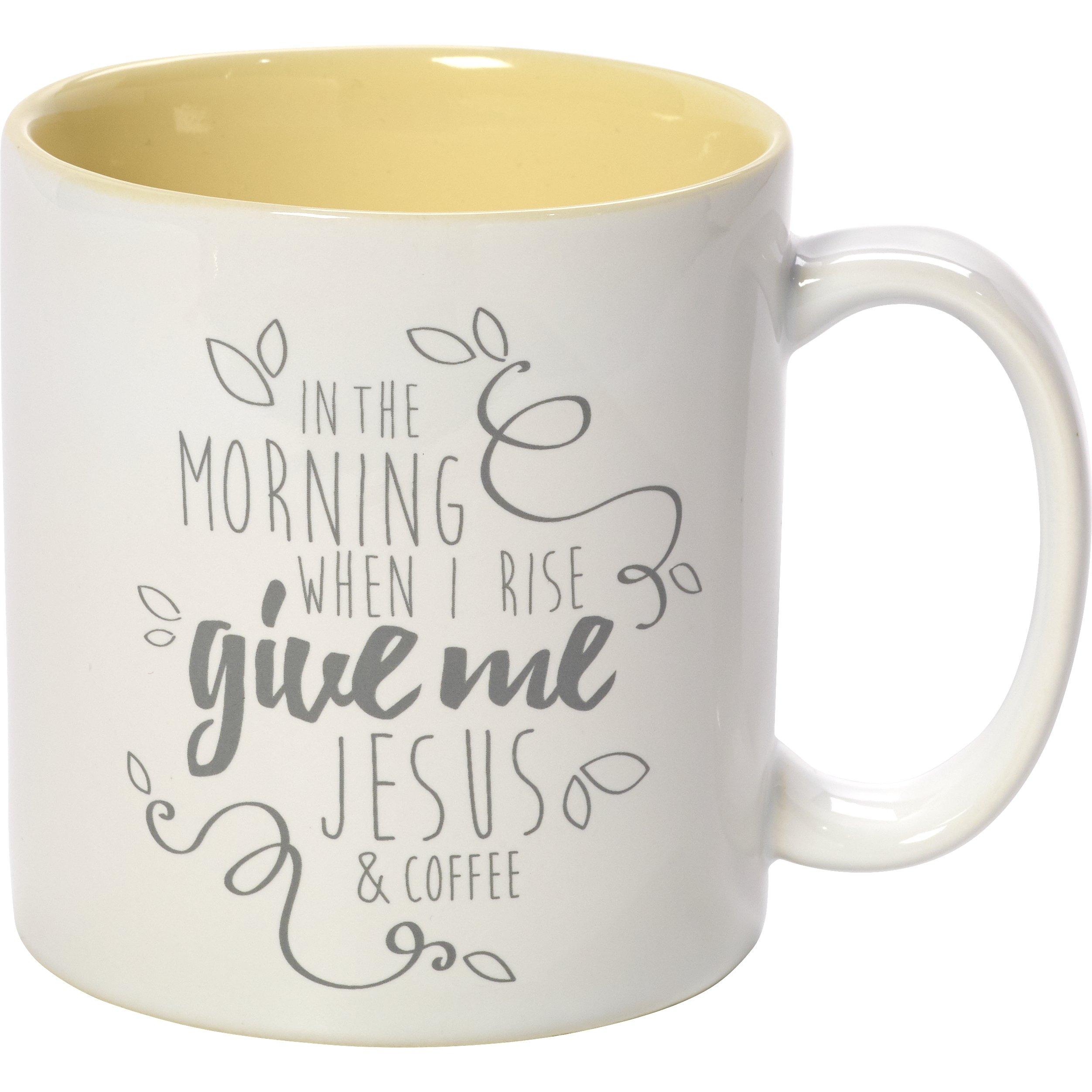 Precious Moments 173415 Yellow Stoneware 11oz Coffee Mug Inspirational Home Decor, One Size, Multi by Precious Moments