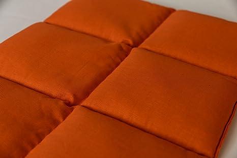 Cuscini Riscaldanti Con Semi.Cuscino Con Semi Di Uva 40x30 6 Tasche Arancione Cuscino Termico