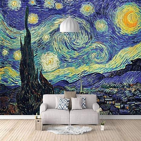 Papel Pintado Fotomural Pintura abstracta Mural de seda ...