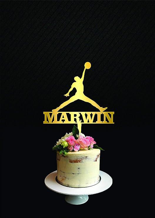 Decoración para tarta de Michael Jordan para tarta de ...