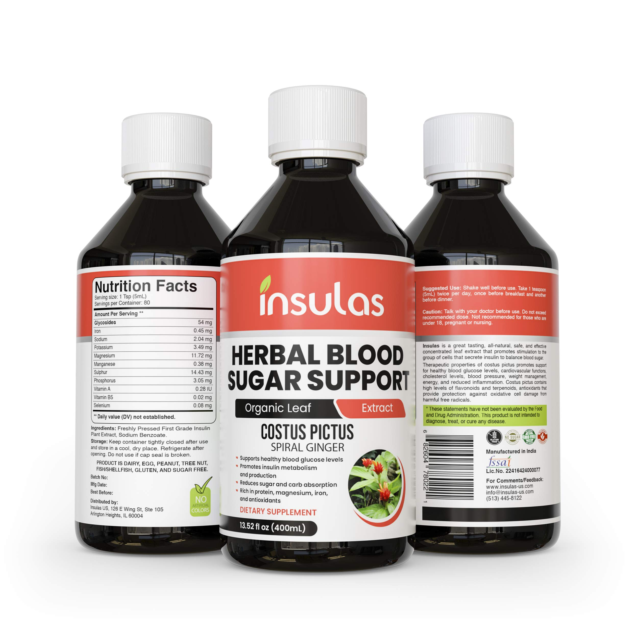 Insulas | Insulin Juice | Herbal Blood Sugar Support | Diabetes and Pre Diabetes Management | Reduces Carb Absorption | Stimulates Insulin Production and Glucose Metabolism by Insulas
