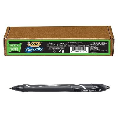 0.7mm 3 Count Black Ink Gel Pen 1 Pack 3-Count BIC Gel-Ocity Quick Dry Gel Pens Medium Point Rectractable