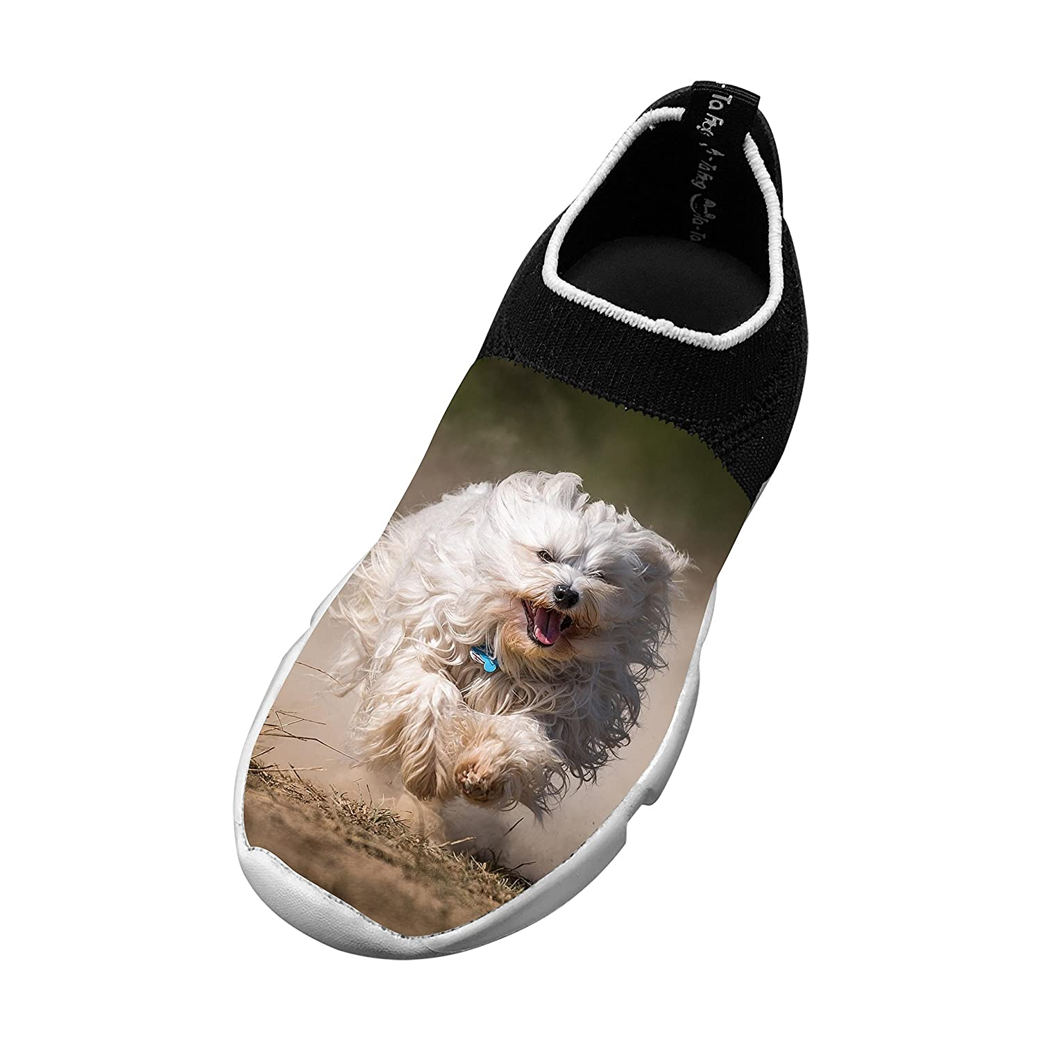 New Awesome Flywire Weaving Sports Shoes 3D Personalized With Nature Dog For Unisex Kids