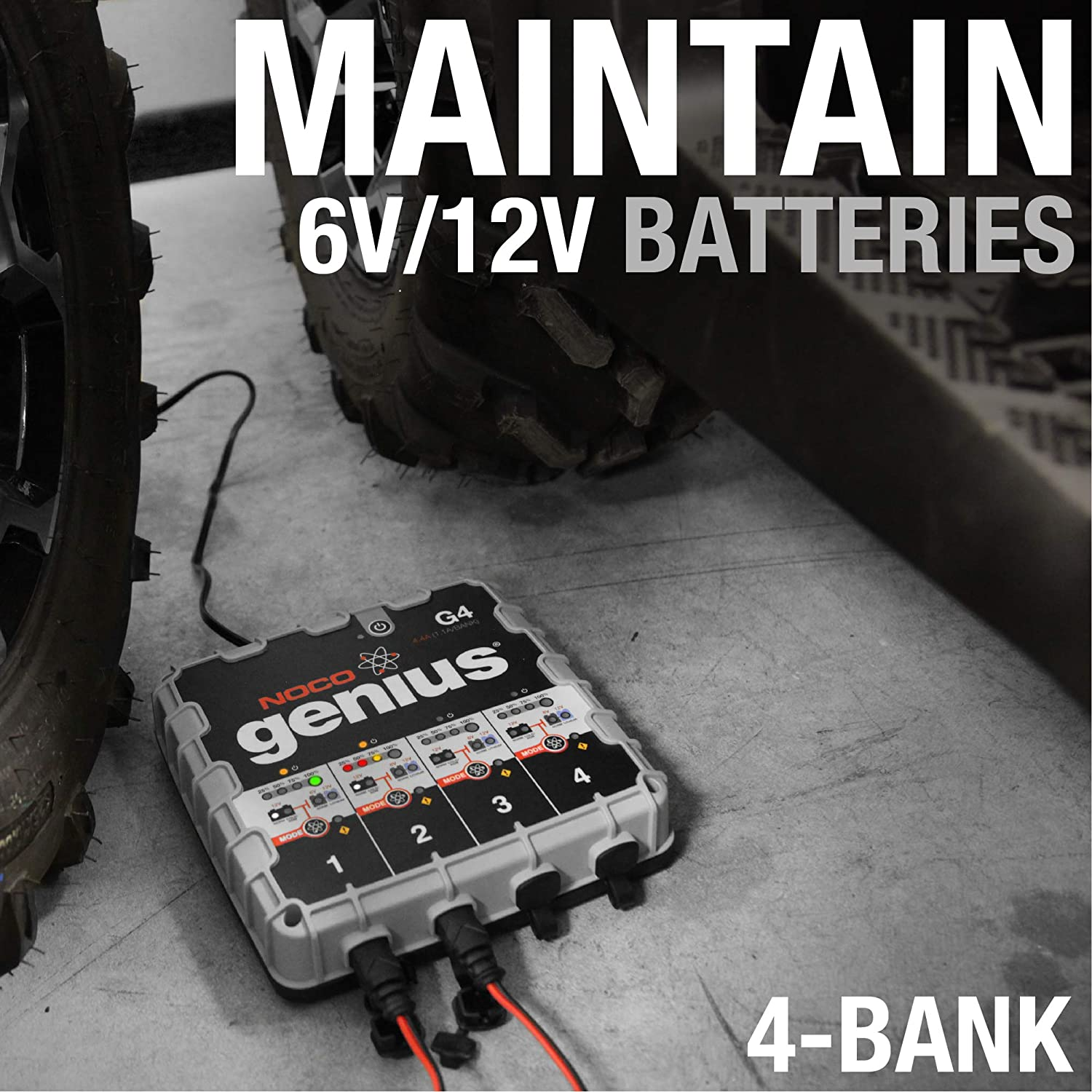 NOCO Genius G1100 6V//12V 1.1 Amp Advanced Battery Trickle Charger Maintainer