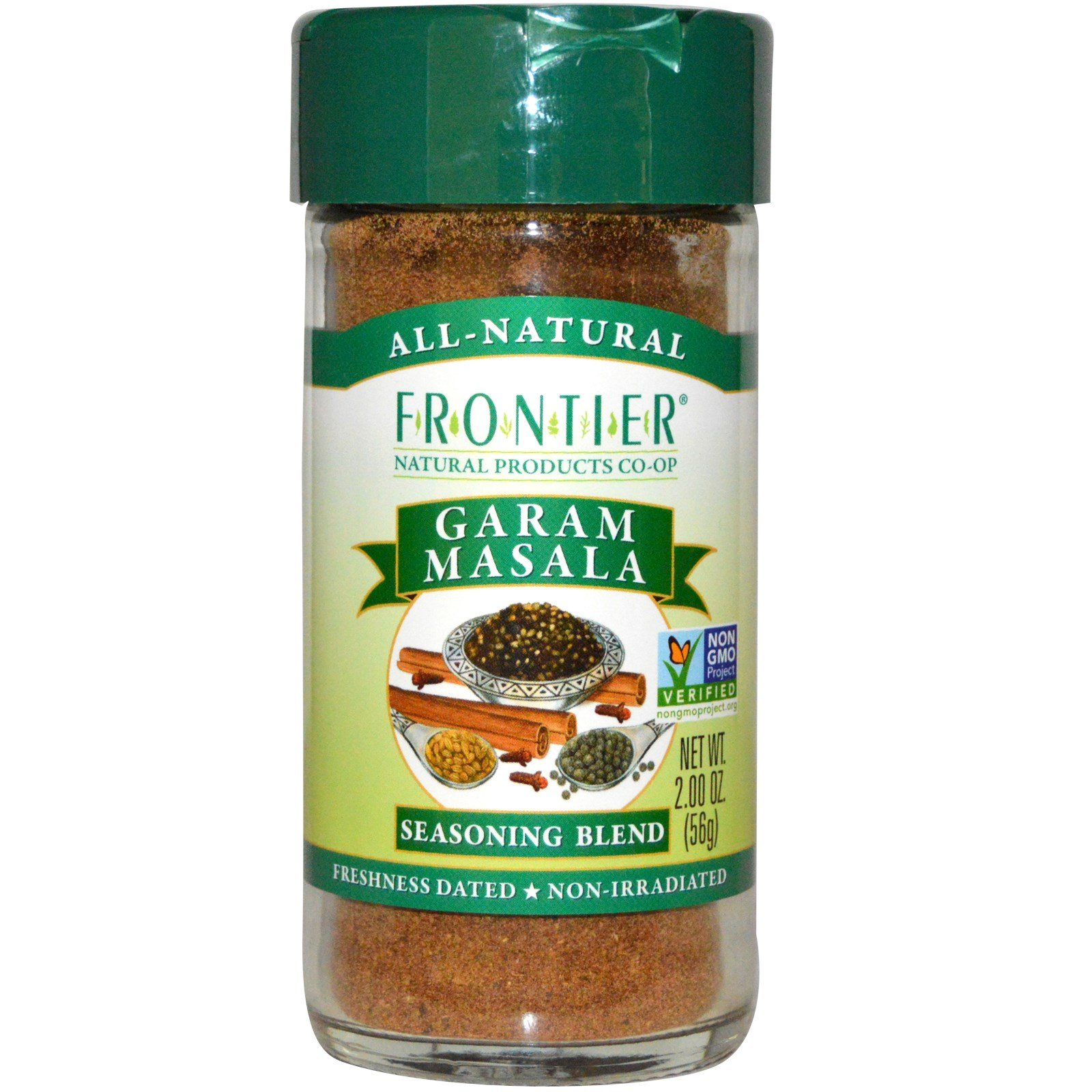Frontier Natural Products, Garam Masala, Salt-Free Blend, 2 oz (56 g) - 2pcs