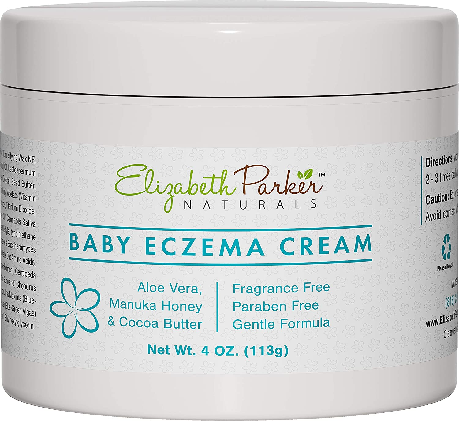 Lotion for Toddler Eczema - Baby Eczema Cream for Face & Body - Organic and Moisturizing Eczema Lotion with Manuka