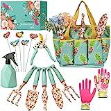 Kit4Pros Floral Garden Tool Set| Gardening Gifts for Women Birthday| Heavy Duty Tools Kit|Storage Tote Bag Organizer| Pruning