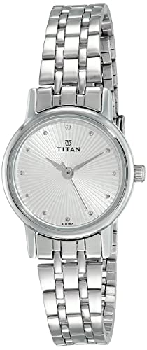 Buy Titan Karishma Revive Analog Silver Dial Women S Watch 2593sm01 2593sm01 Online At Low Prices In India Amazon In