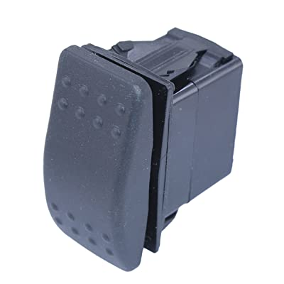 DC Switch double pole 3 position sealed switch on-off-on: Automotive