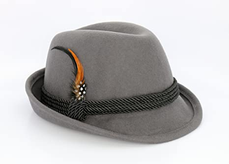 Image Unavailable. Image not available for. Color  Holiday Oktoberfest Wool  Bavarian Alpine Hat - Gray Color - Size Large 6d5ab341f97c