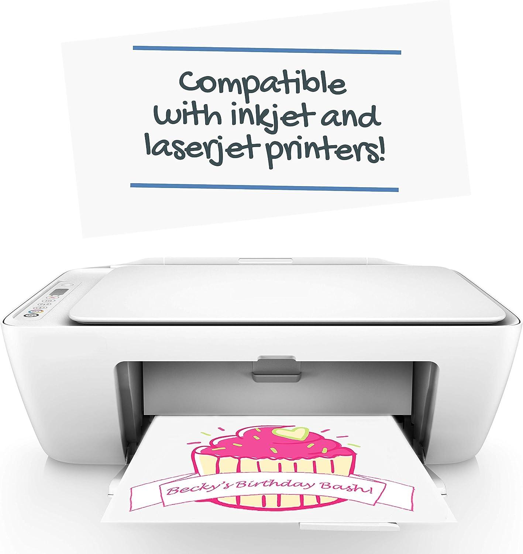 50 Sheets 8.5 x 11 inch, NuFun Activities Inkjet Printable Iron-On Heat Transfer for Dark Fabrics