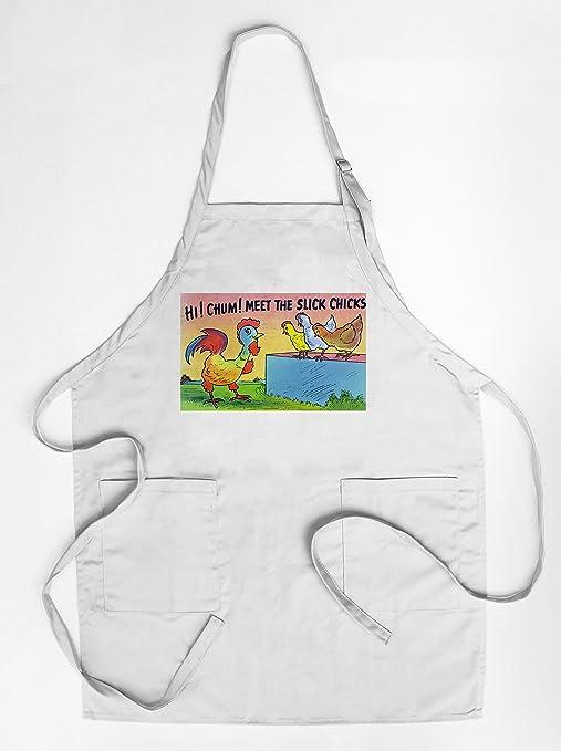 Set colorido de cocina barbacoa Delantales cómico