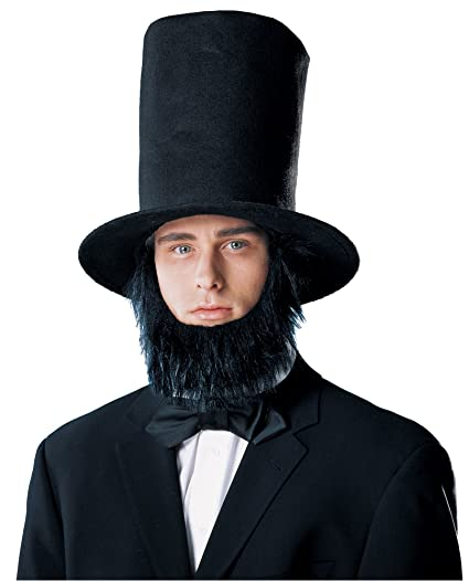 f83ce695095 Amazon.com  Costume Culture Men s Abraham Lincoln Hat with Beard ...