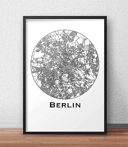 Dekoration Deutschland.Plakat Berlin Deutschland Minimalist Map Poster City Map