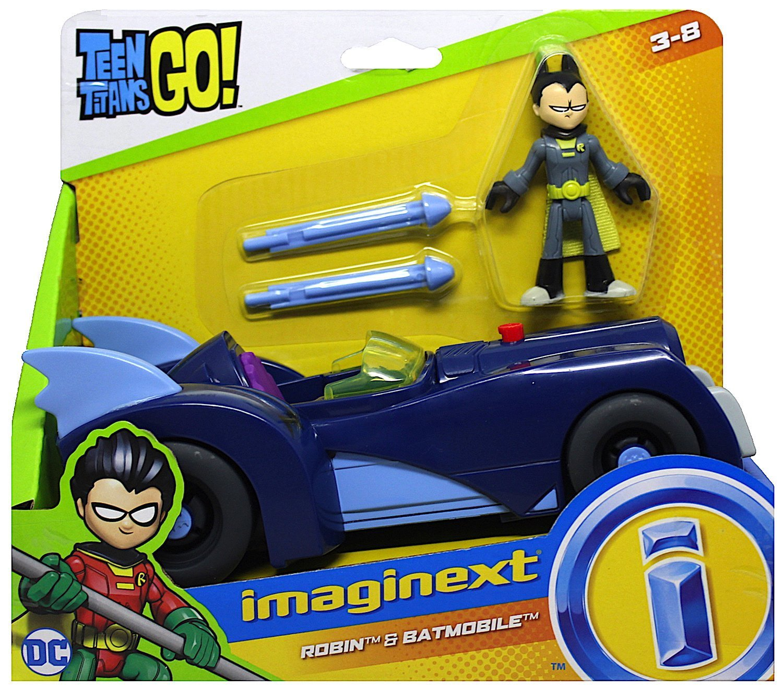 Teen Titans Go Imaginext Robin Figure & Batmobile