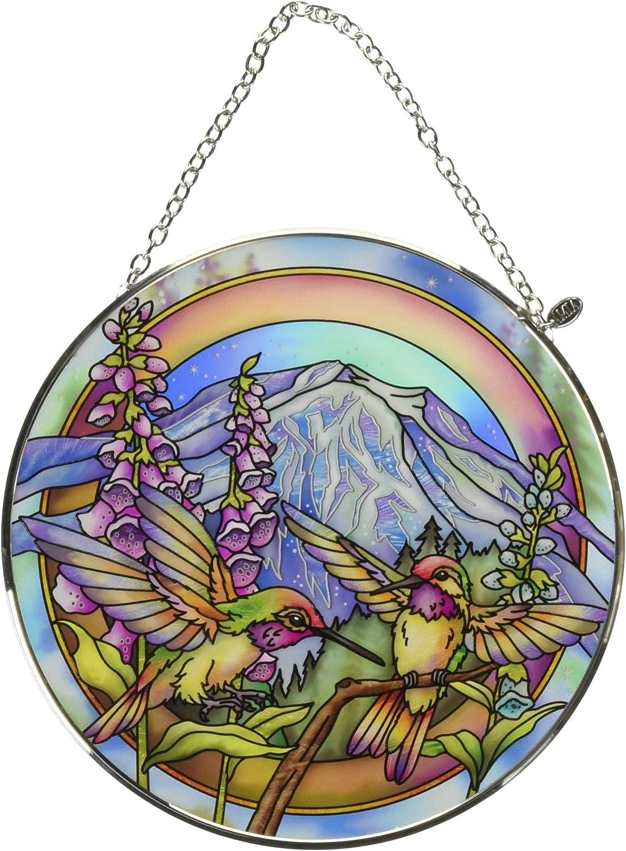 Amia Each Each Day is A Magnificent Journey Hummingbird Glass Suncatcher, 6-1/2