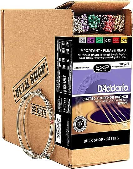 Cuerdas para guitarra acústica con revestimiento DAddario EXP26 ...