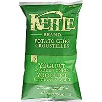 Kettle Chips Yogurt and Green Onion Chips, 220 Gram