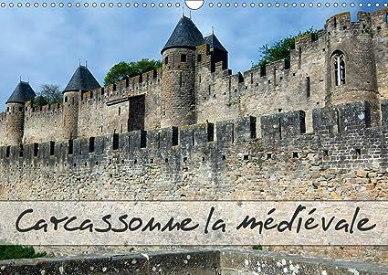Carcassonne la médiévale Calendrier mural 2021 DIN A3 horizontal