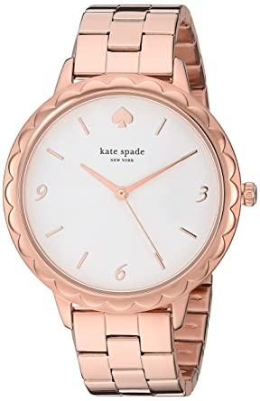 42208cb74a2 Amazon.com  kate spade new york Women s Scallop Quartz Watch with Stainless- Steel-Plated Strap