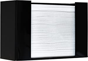 Paper Towel Dispenser by Oasis Creations, Holds 250 Paper Towels, Wall Mounted, Countertop Paper Towel Dispenser, Universal Paper Towel Holder- Black