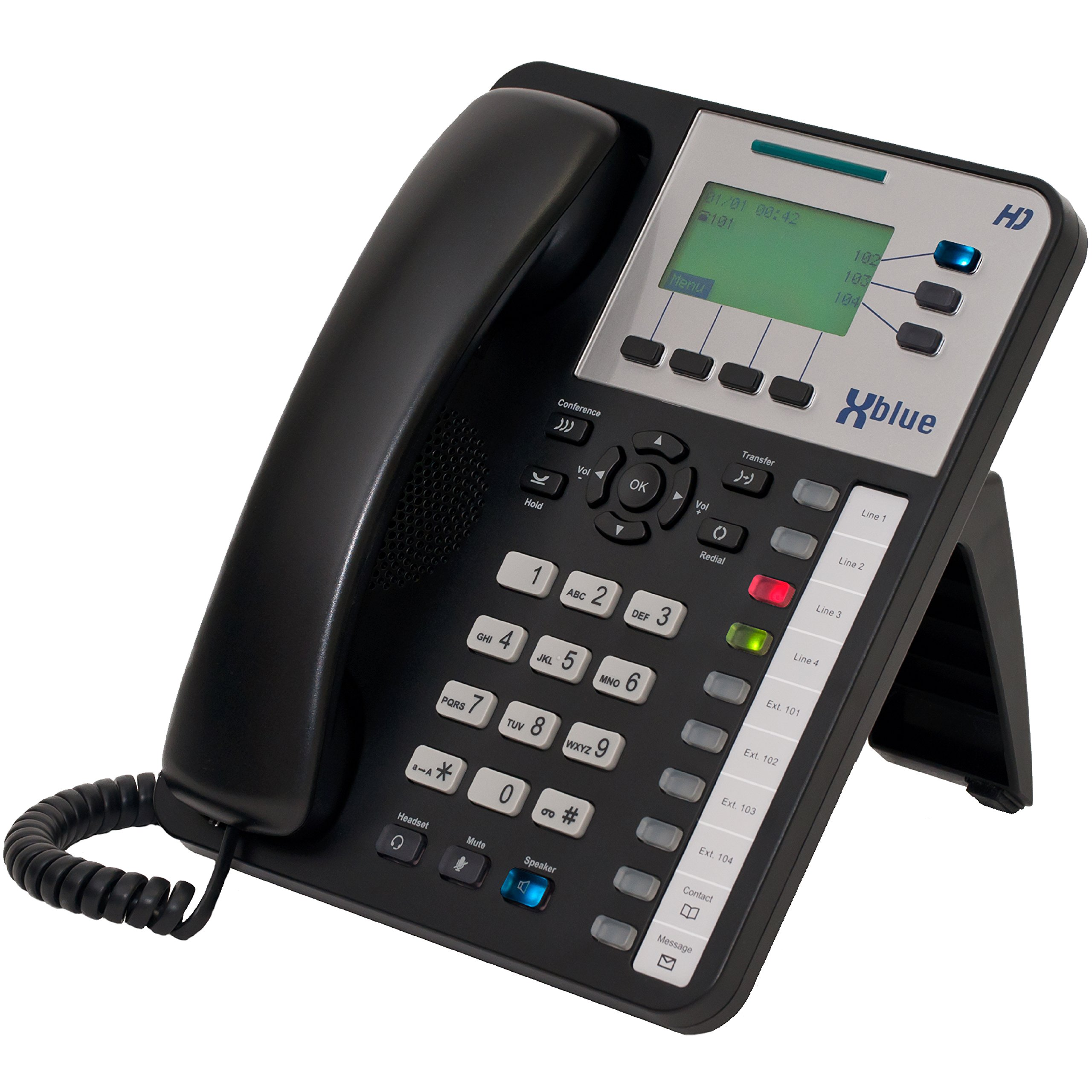 XBLUE X3030 HD Office Phone (47-7002) for X25 & X50 Systems - (11) Programmable Buttons, Speakerphone & Power Supply by Xblue