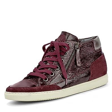 Paul Green 4242 483 Damen Sneaker aus Lack und Veloursleder