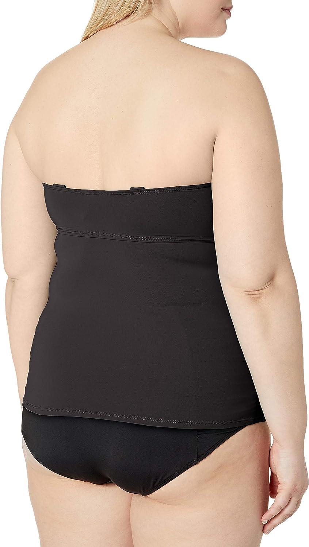 Anne Cole Womens Plus Size Twist Front Bandeau Tankini Swim Top