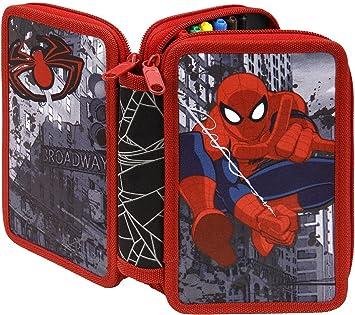 Undercover - Estuche Escolar Spiderman: Amazon.es: Equipaje