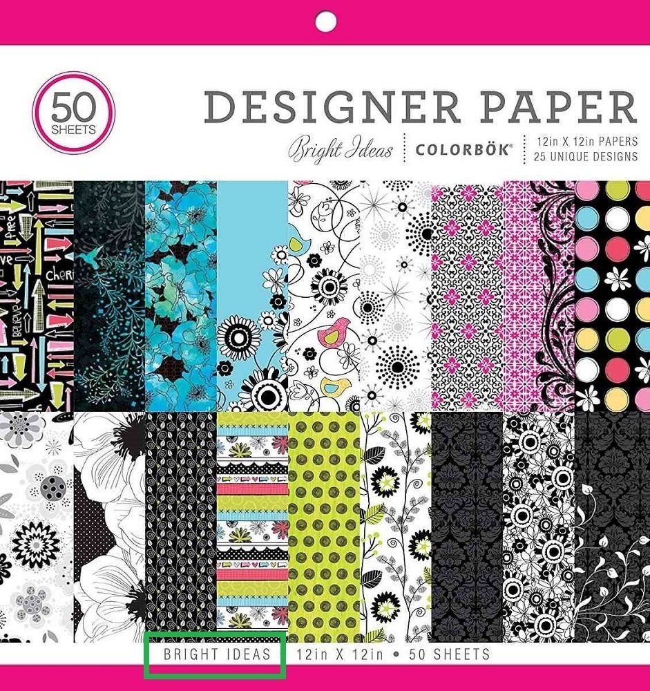 Style may vary 12in Designer Paper Mad for Plaid