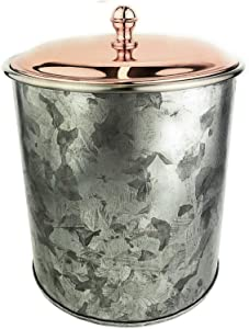 Galrose Galvanized Iron Insulated Ice Bucket – Rose Gold Lid, 2 Liter Stainless Steel Double Wall 5.5
