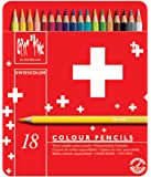 Caran D'ache Swisscolor Colour Pencils in Metal Box (Pack of 18)