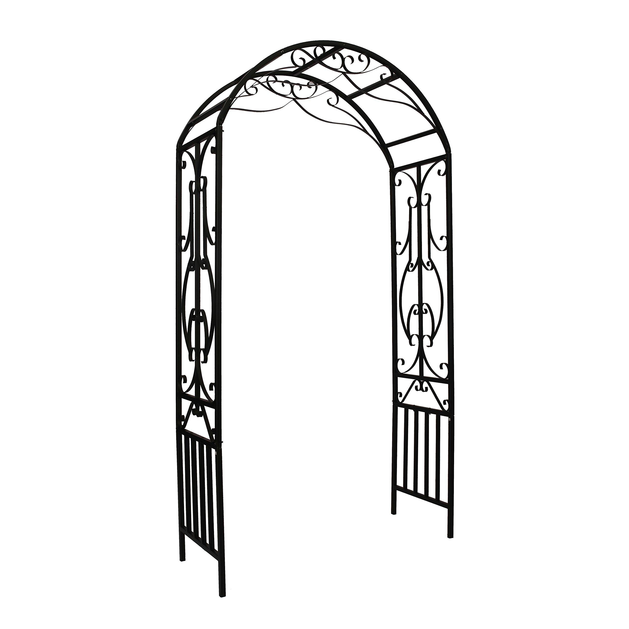 1.Go Steel Garden Arch, 7'2 High x 3'11 Wide, Garden Arbor for Various Climbing Plant, Outdoor Garden Lawn Backyard