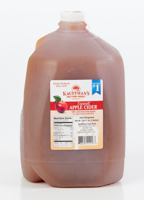 Kauffman's Homemade Fresh Apple Cider, Frozen for Shipping, Appr. 0.9 Gallon