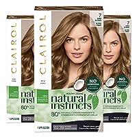 Clairol Natural Instincts Semi-Permanent, 7 Dark Blonde, Coastal Dune, 3 Count