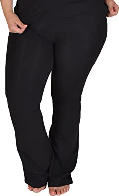 Stretch is Comfort Women's Foldover Plus Size Yoga Pants