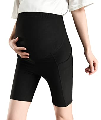 a05f8287a55c2 Women's Maternity Over The Belly Active Lounge Comfy Yoga Short Workout  Running Athletic Non See-