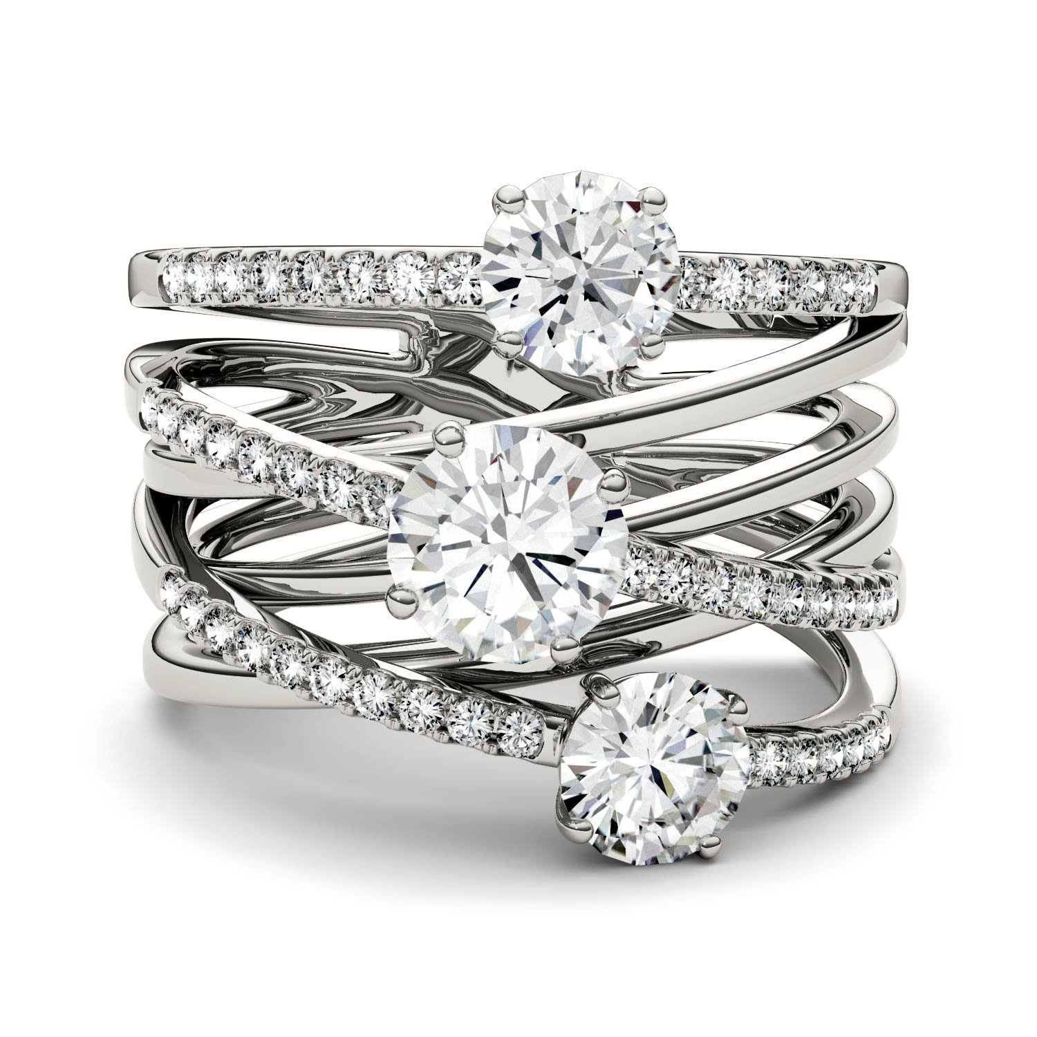 Forever Brilliant Round 6.0mm Moissanite Band Style Ring-size 6, 2.28cttw DEW By Charles & Colvard by Charles & Colvard (Image #4)