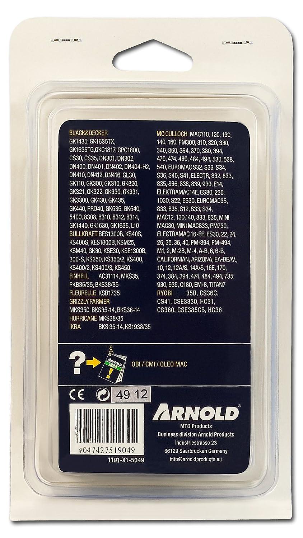 3//8, 1,3 mm, 49 eslabones, espada de 35 cm Arnold 1191-X1-5049 Hobby Cadena